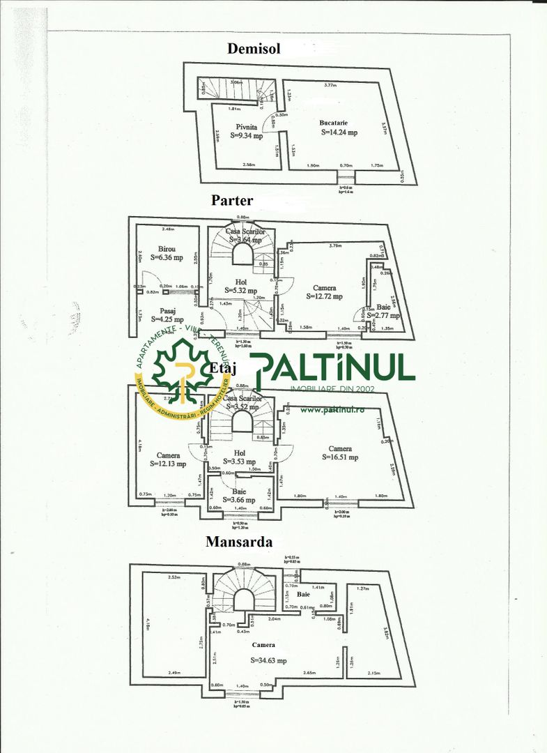 4 room House / Villa for sale, Central area