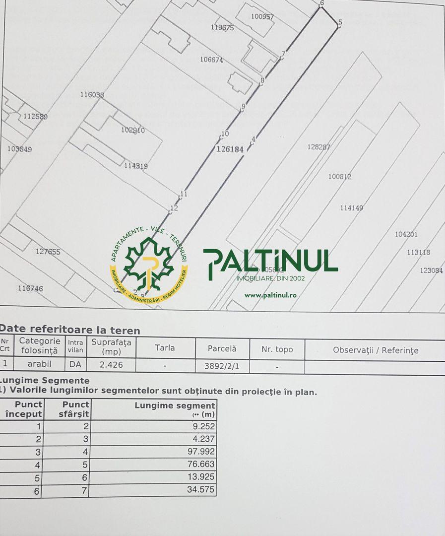 Teren intravilan in cartierul Lazaret